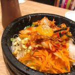 吾照里 - ◆韓流Aセット 1,380 石焼ビビンバの白菜の甘味がマジで美味い。