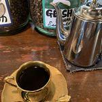 自家焙煎珈琲 蘭館 - カップはデミタスで、コーヒーはポットサービスで