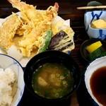 手打ち おとわ - 天ぷら定食(ランチ)¥950