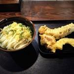 讃岐うどん大使 東京麺通団 - 冷かけ & 天ぷら!暑かったのでさっぱり目で!