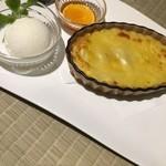 小樽食堂 - 道産練乳スイートポテト ミルクアイスのせ450円