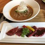 焼肉ダイニング GYUBEI - 2019/8/9 ランチで利用。 辛シビ担々冷麺と焼肉ランチ(1,598円)