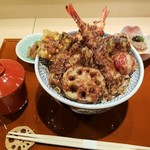 赤坂蓮の庭 - 上空から 蓮の庭天丼