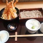 蕎麦と日本料理 驚 KYO - 海老づくし天丼と蕎麦セット 2019.7月