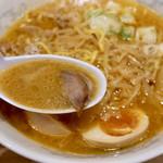 113483240 - 熱々のこってり濃厚な味噌スープ