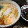 文殊 - 料理写真:そば定食+たぬき+サービス生卵