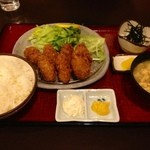 乙妻 - 料理写真:カキフライ定食 乙妻