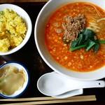 煌庵 - 紅坦々麺セット900円
