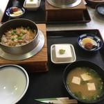 つくも食堂 - 鶏めし定食  1400円