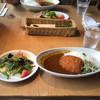 サンサーラ - 料理写真:牡蠣クリーミーコロッケカレー セットのサラダと