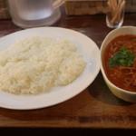 ヤミツキカリー - 5種の木の子と合挽き肉の森盛カリーの激辛
