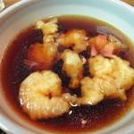 四谷 政吉 - 小エビの天ぷら入りつけ汁