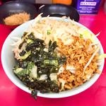 ラーメン二郎 - 料理写真:冷やし汁なし840円 麺少なめヤサイ、ワカメ