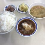 天ぷら えびす食堂 - 定食の中飯、あなご天定食@720でお願いしてます。
