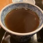 赤坂見附長寿庵 - たくさんい蕎麦湯をいただきました。