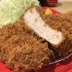 とんかつ檍のカレー屋 いっぺこっぺ - 上ロースカツカレー (200g) (とんかつ別皿) (1800円)