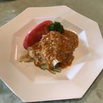 龍宮城 - 料理写真:三重県産若蒸鶏のゴマソースかけ(棒棒鶏)