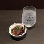 個室居酒屋 穏座 - ROKUソーダとお通し。       美味し。