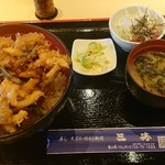 三勝 - かき揚げ丼 1,200円(税込)