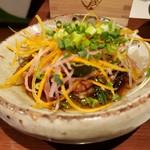 113518707 - 徳島椎茸のオーブン焼き、へシコバターの香り