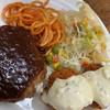 ファミリーレストラン ホリエ - 料理写真:ハンバーグのソース食べた途端ニンニクの香り広がりました