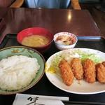 カフェ食堂みどり - カキフライ定食950円