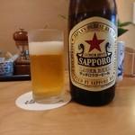 113521026 - 瓶ビールは赤星 201908