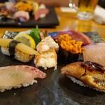 どでか寿司 - にぎり上盛り