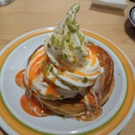コメダ珈琲店 - シロノワール北海道メロンミニ(550円がセットで430円に)