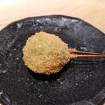 東京恵比寿 串亭 - 和牛のメンチカツ