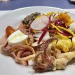 """アンティカ・オステリア""""トト""""  - 前菜盛り合わせ・・盛り沢山で、どれも美味しい。"""