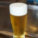 鉄板焼き ひびき - ドリンク写真:生ビール