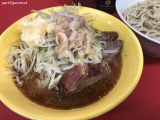 ラーメン二郎 茨城守谷店 - 再訪問 2019/08 つけ麺+タマネギ 「ニンニクアブラ麺少なめ」(900円)