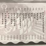 日本酒商店 YODARE - メニュー(本日の刺身)