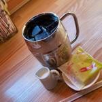 113532558 - たっぷりのアイスコーヒー(540円)の甘み抜きです。