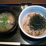 金王庵 - ランチセット のりごまそば(冷)とかきのあんかけ丼