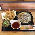 天丼 元亀 - 海老天ざる  ¥1200