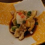 炭火焼鶏×デザート こてつ - コーチンみぞれ皮ポン酢 380円