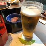 出雲・玉造温泉 佳翠苑 皆美 - ドリンク写真:先ずはビールで乾杯