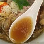 中華そば 和渦 TOKYO - 醤油スープ