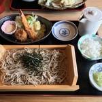 なんぶの郷 - ざる蕎麦とエビヒレカツ定食