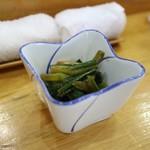 とも恵寿し - アイヌネギしょうゆ漬け(450円)