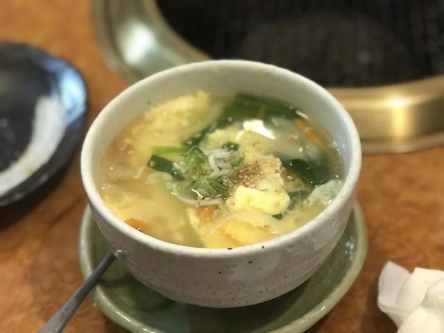 スープ 焼肉 屋 卵