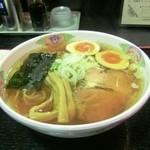 麺屋 直 - らーめん+あじ玉+ねぎ