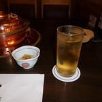 しゃぶ禅 -  杏のお酒の水割りです。甘くて飲みやすかったです。
