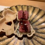 割烹 一楓 - 白和えと牛肉