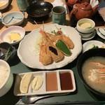 和食処 らいぜん - 料理写真:串揚げ定食
