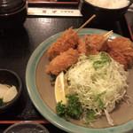 とんかつ 水龍 - ミックス定食  1,360円