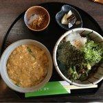 Sobadokoronishimura - 田舎そば定食(玉子丼)