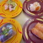 113598563 - トロあじ、大赤貝、炙りサーモンバジルチーズ、どか盛りほたて
